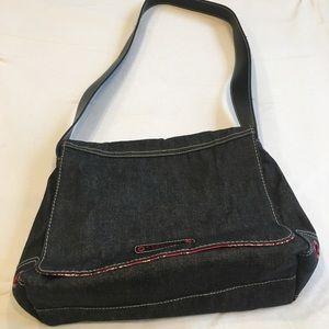 NWOT black denim Shoulder Bag